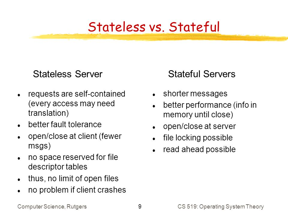 Stateful Versus Stateless Service