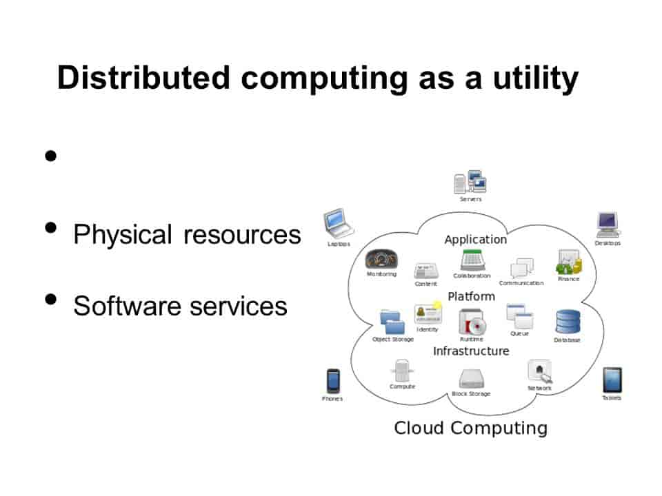 Distributed computing as a utility