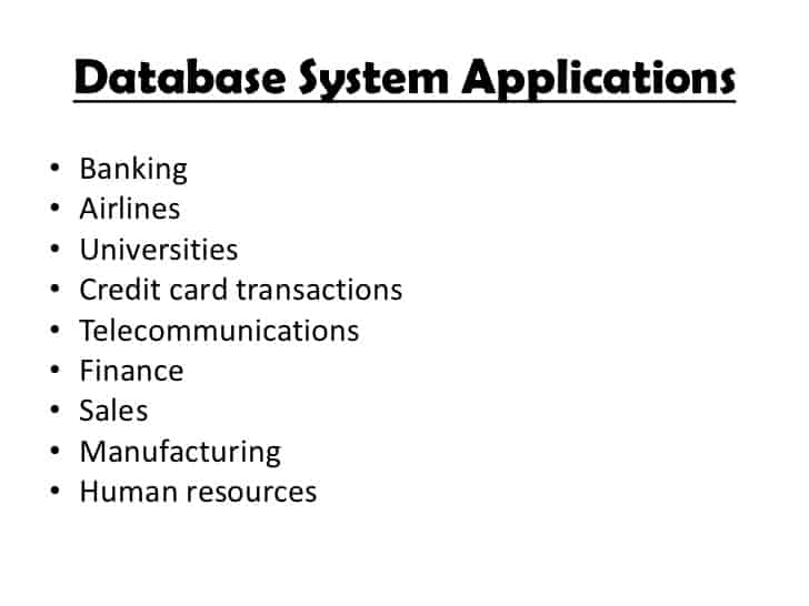 Database-System Applications