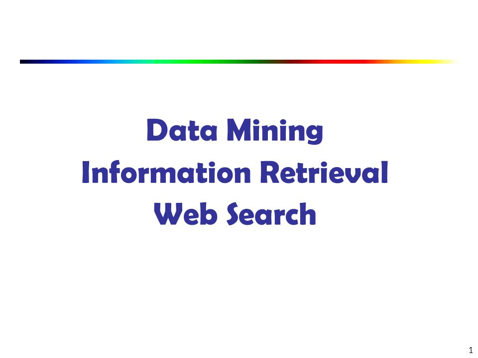 Data Mining and Information Retrieval