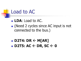 LDA: Load to AC
