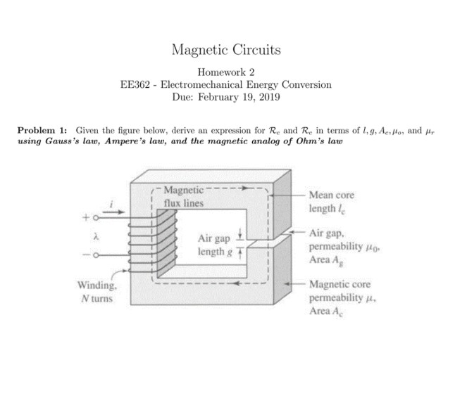 Magnetic circuits and Electromechanical energy conversion