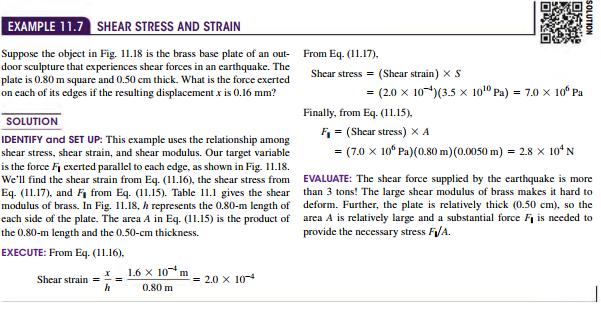 Shear Stress and Strain