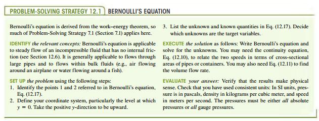 Deriving Bernoullis equation