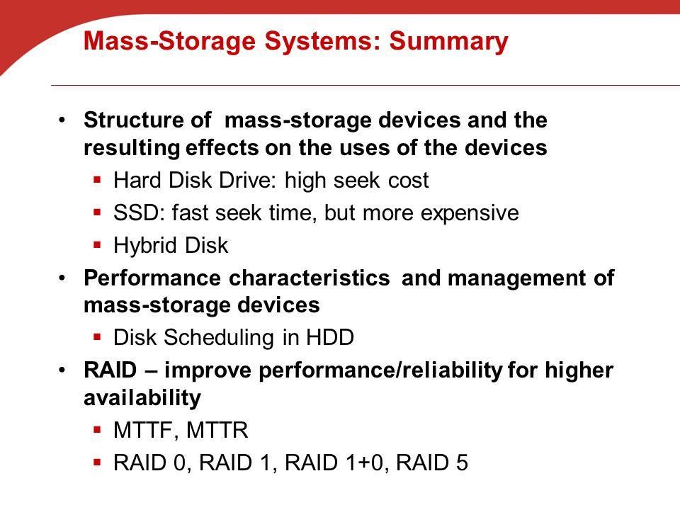 Mass-Storage Structure-Summary