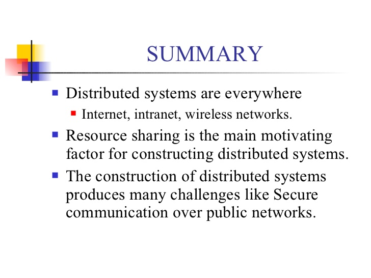 Distributed System-Summary