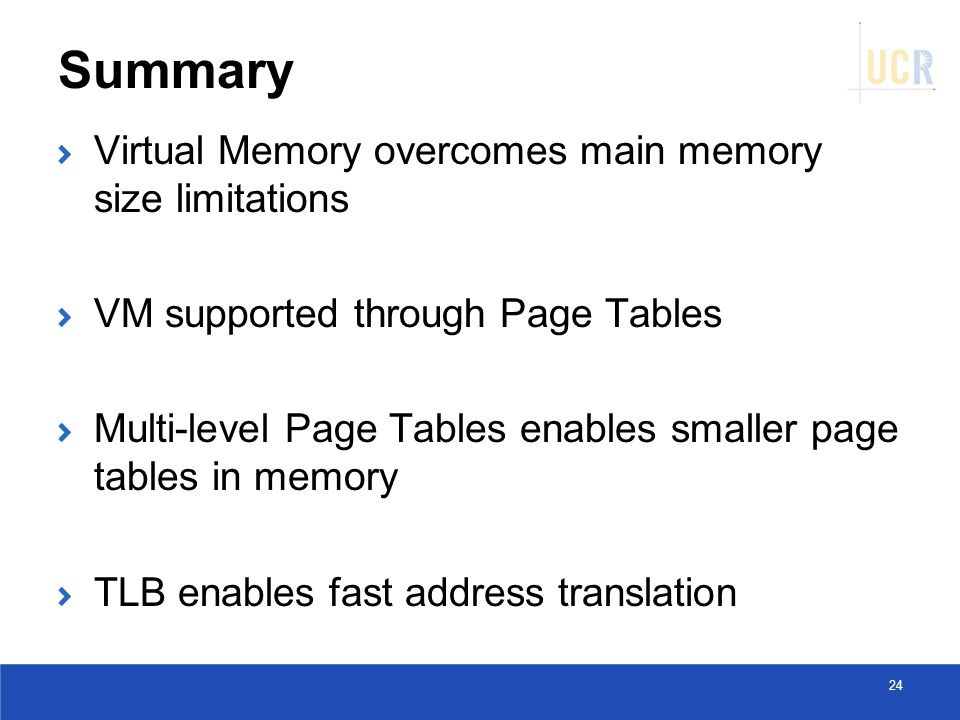 Summary-Virtual Memory